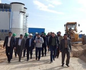 بازدیدمدیرعامل ساتا و هیات همراه از سایت کارخانه فروسیلیس (شهرک صنعتی خمین) (آبان ماه 1396)
